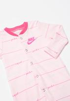 Nike - Nike girls jdi script footed coverall - pink