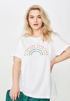 Cotton On - Curve graphic logo tee  - white