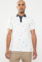 Jack & Jones - Scrippler short sleeve polo - navy & white