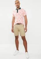 Jack & Jones - Scrippler short sleeve polo - pink & green
