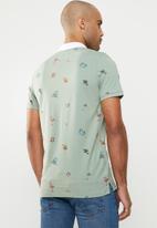 Jack & Jones - Scrippler short sleeve polo - green & white