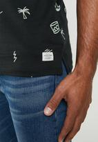 Jack & Jones - Scrippler short sleeve polo - black & green