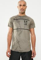 Under Armour - Mk1 short sleeve q2  printed tee - khaki