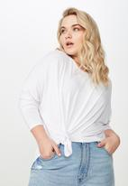 Cotton On - Curve batwing sleeve tee  - white