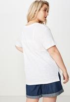 Cotton On - Curve crew neck tee  - white