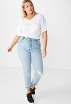 Cotton On - Curve relaxed v neck tee  - white