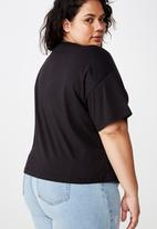 Cotton On - Curve relaxed v neck tee  - black