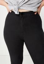 Cotton On - Curve ashley high jegging  - black