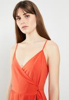STYLE REPUBLIC - Summer wrap dress - orange