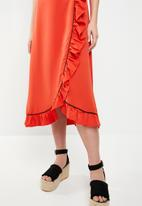 STYLE REPUBLIC - Summer wrap dress - orange