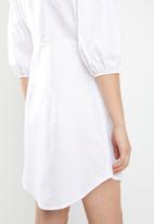 STYLE REPUBLIC - Volume sleeve front button dress - off white