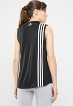 adidas Performance - MH 3S tank top - black & white