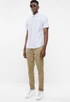 Only & Sons - Travis short sleeve striped shirt - blue