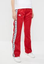 KAPPA - Banda snap pants - red & black