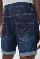 Brave Soul - Plain denim shorts - blue