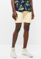 Brave Soul - Smith shorts - yellow