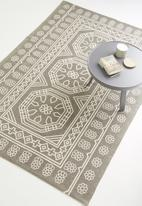 Sixth Floor - Auden printed rug - white & grey