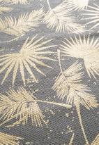 Sixth Floor - Forest floral printed runner - gold foil