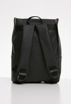 Superbalist - Zip detail faux leather backpack - black