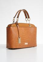Miss Black - Adora snake combo handbag - tan