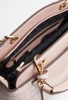 Miss Black - Adora snake combo handbag - pink