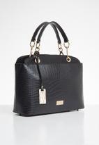 Miss Black - Adora snake combo handbag - black