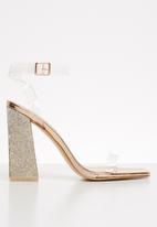 Public Desire - Ayda glitter block heel - rose gold