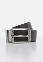 Superbalist - Skinny reversible belt - black & grey