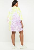 Missguided - Curve tie dye T-shirt dress - multi