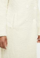Missguided - Longline borg coat - cream