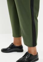 Superbalist - Side stripe trouser - khaki &  black