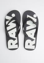 G-Star RAW - Flip flop dend - black & white