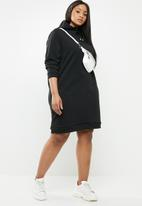 Superbalist - Hooded sweater dress - black