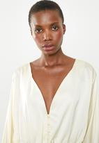 Missguided - Satin shirred top  - cream
