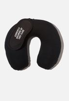 Typo - Neck pillow & eye mask set - black
