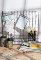 Typo - Shaped wire organiser - black