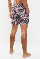 Only & Sons - Tan nt 2996 all over print swimshorts - grey & pink