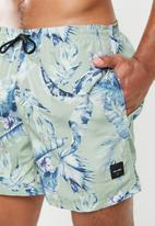 Only & Sons - Tan nt 2996 all over print swimshorts  - green & blue