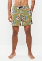 Only & Sons - Tan nt 2471 all over print swimshorts - green