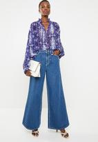 Superbalist - Peasant blouse - blue & white
