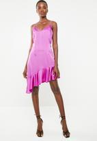 Missguided - Asymmetric frill hem cami dress - purple