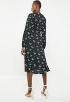 Superbalist - Mock wrap over dress - black