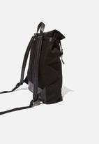 Typo - Roll top backpack - black