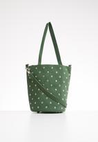 Superbalist - Round studded bucket bag - green