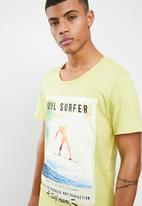 Jack & Jones - Kenni crew neck T-shirt- yellow