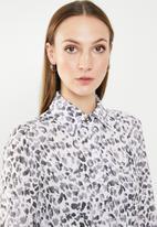 edit - Shirt dress with collar - multi