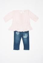 POP CANDY - 2 Pack jean & top set - pink & blue