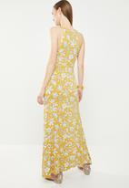edit - Maxi wrap front dress - yellow