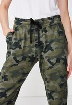 Cotton On - Adele cuff trackpants  - green