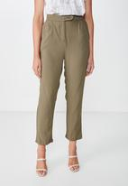 Cotton On - Ava tapered pants  - green